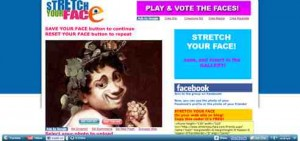 Gesicht verzerren   online mit stretchyourface.com