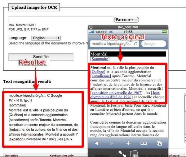 free ocr Free OCR, un service de reconnaissance optique de caractères en ligne